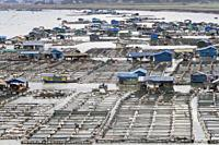 China, Fujiang Province, Xiapu County, Fish farms, aquaculture.