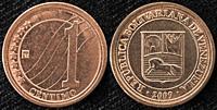 1 centimo coin, Venezuela, 2009.