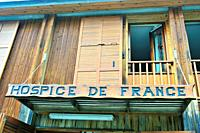 The Hospice de France is a shelter of mountain at the French Pyrenees. Haute-Garonne department; Occitanie region; France.