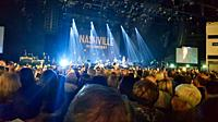 Nashville in Concert, Motorpoint Arena, Cardiff, Wales. Five members of the American musical drama cast on tour, April 2018.