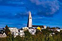 Hallgrímskirkja in Reykjavic, Iceland.