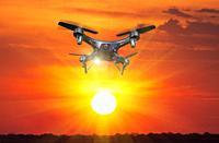 Drone flying over Okavango Delta. Botswana.