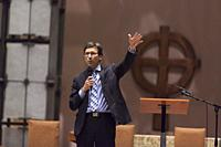 Seattle, Washington: Attorney General Bob Ferguson speaks to supporters at St. Mark's Episcopal Cathedral during a discussion on the current state imm...