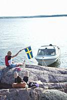 Family boat trip, Swedish archipelago