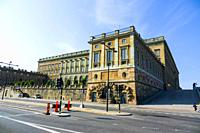 The Royal Palace in Old Town tourist destination in Stockholm is the capital and largest city of Sweden.