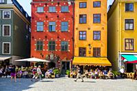 Stortorget square Gamla Stan Old Town tourist destination in Stockholm is the capital and largest city of Sweden.
