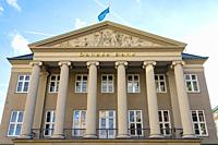 Danske Bank HQ headquarter in Copenhagen, Denmark, Kongens Nytorv, - Danish Bank scandal whitewashing Russian money in its branch in Latvia.