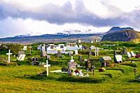 Graveyard in Snaefellsnes peninsula, Iceland.