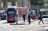 Street scene, Tram, Geneva, Switzerland.