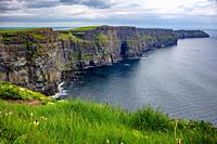 South view of the cliffs towards Moher Fort Site Telegraph Station.