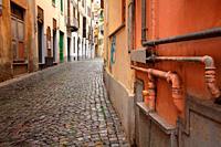 Via Gariglietti in Ivrea. Italy.