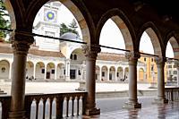 The Arcades of Loggia del Lionello and Loggia di San Giovanni, Piazza della Libertà, Udine, Friuli Venezia Giulia, Italy, Europe