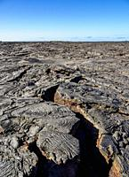 Lava field in Sullivan Bay, Santiago or James Island, Galapagos, Ecuador.