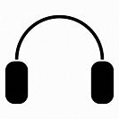 Headphone it is the black color icon .