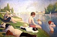"""""""Bathers at Asnières """", 1884, Georges-Pierre Seurat, National Gallery, London, England, UK."