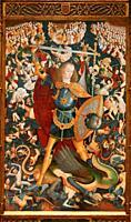 """""""""""""""San Miguel Arcángel"""""""", 1495-1500, Maestro de Zafra, Museo del Prado, Madrid, Spain."""