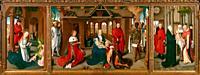 """""""""""""""Tríptico de la Adoración de los Magos"""""""", 1470-1472, Hans Memling, Museo del Prado, Madrid, Spain."""