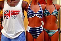 bikinis on mannequins, Lloret, Catalonia, Spain