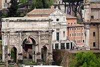 Italy, Rome. Roman Forum, Arch of Septimius Severus, Built in? ?203 AD