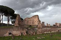 Italy, Rome, Roman Forum or Forum of Rome, archaeological site, main square of ancient Rome, Stadio Palatino