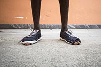 African refugees. Italy, Gambolò, reception center for minor asylum seekers.