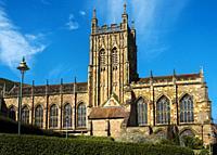 Great Malvern Priory, Great Malvern, Worcestershire, England, Europe.