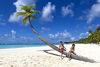Beautiful beach, Saona Island, Dominican Republic. Saona Island is located in the extreme southeast of the Dominican Republic. It is part of the Easte...
