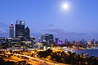 The City of Perth at Dusk, Australia.