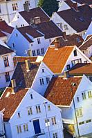 Traditional Architecture, Old Town, Stavanger, Norway, Scandinavia, Europe.
