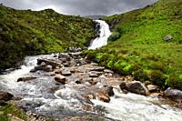 Blackhill or Eas a' Bhradain waterfall on the Allt Coire nam Bruadaram river Scottish Highlands Isle of Skye Scotland UK.
