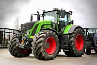 Helsinki, Finland - November 15, 2018: Fendt 939 Vario tractor on the outdoor area of MaatalousKonemessut Agricultural Trade Fair, Helsinki, Finland. ...