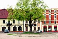 Old market square in old town of Czestochowa, many old conservation buildings rebuilt and maintained by the authorities and private sector, it is a pl...