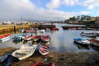 Old port of Cabo de Cruz. Boiro. Ría de Arosa. La Coruña province. Galicia. Spain
