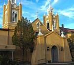 Iglesia de san felipe de neri 1793, square old town, Albuquerque, New Mexico.