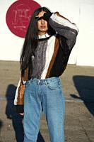 woman, cool, fashionable, streetstyle, blogger, dazzled