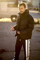 man, streetstyle, gesticulating, fashionable, Blogger Adem Bayalan, in Munich, Germany