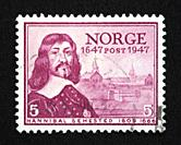 Norwegian postage stamp.