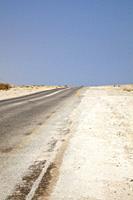Judean Desert Road along Dead Sea in Israel.