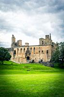 Ruins of Linlithgow Castle in Linlithgow, Scotland, United Kingdom.