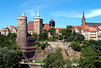 Old Town of Bautzen in Saxony with Old Waterworks, Church of Saint Michael, Saint Peter's Cathedral and Town hall tower - Germany.