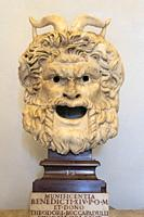 A Satyr mask from the Roman period 2nd half 1st cen. AD. In the Palazzo dei Conservatori, part of the Capitoline Museums, Rome, Italy.