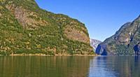 Aurlandsfjorden Fjord, Flam, Norway, Scandinavia, Europe.
