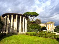 The Temple of Hercules Victor or Hercules Olivarius is a Roman temple in Piazza Bocca della Veritá, in the area of the Forum Boarium close to the Tib...