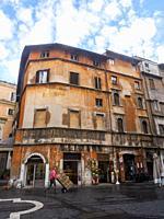 Via del Portico d'Ottavia in the Ghetto - Rome, Italy.