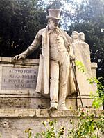 Statue of Giuseppe Francesco Antonio Maria Gioachino Raimondo Belli (7 September 1791 - 21 December 1863) in the Trastevere area. Italian poet, famous...