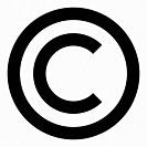 Copyright symbol icon black color vector illustration flat style simple image