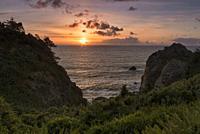 Sunset on Patrick's Point State Park CA.
