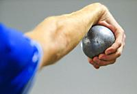 Images of players, judges and public of the Petanque doubles world championship in Canada. .