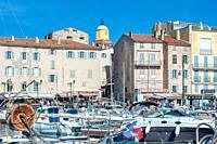 Harbor, Saint-Tropez, Var, Provence-Alpes-Cote d`Azur, France, Europe.