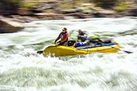 Rafting the Colorado River in the Grand Canyon through Hermit Rapids, Grand Canyon National Park, Arizona, USA.